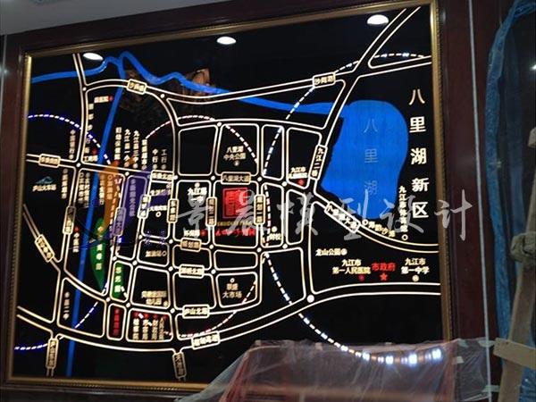 九颂山河博园有机玻璃电子沙盘/