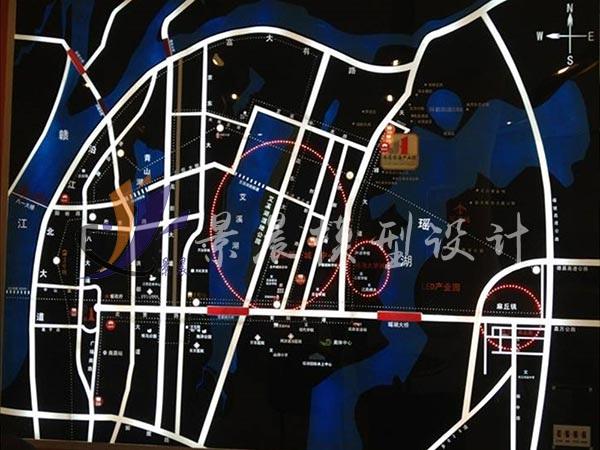 南昌公园一号有机玻璃电子沙盘/